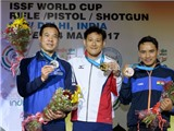 Hoàng Xuân Vinh giành HCB Cup bắn súng thế giới 2017